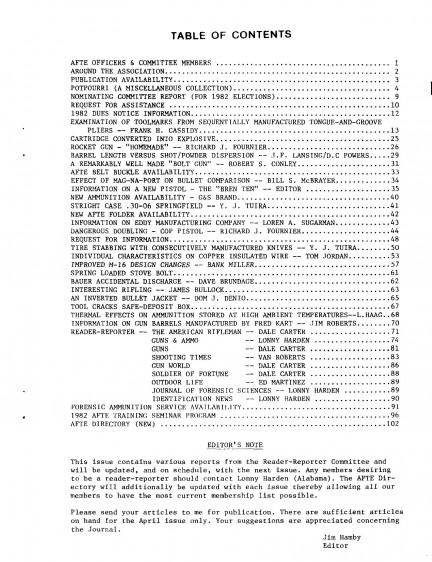 AFTE Journal Vol 14 No 1 (1982)