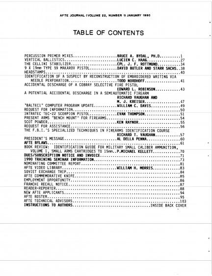 AFTE Journal Vol 22 No 1 (1990)