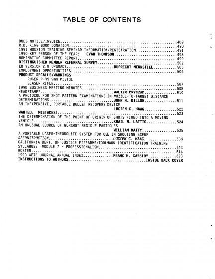 AFTE Journal Vol 23 No 1 (1991)