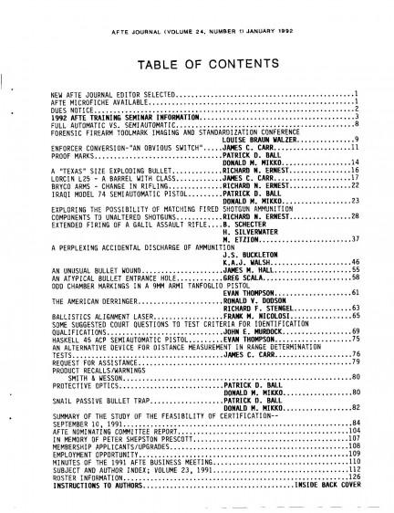 AFTE Journal Vol 24 No 1 (1992)