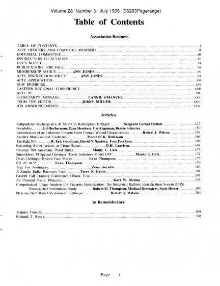 AFTE Journal Vol 28 No 3 (1996)