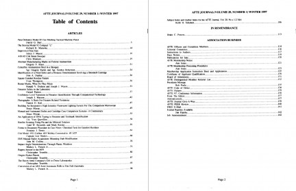 AFTE Journal Vol 29 No 1 (1997)