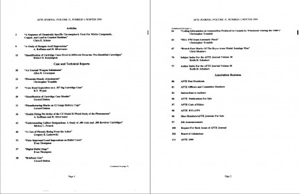AFTE Journal Vol 31 No 1 (1999)