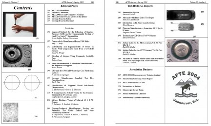AFTE Journal Vol 35 No 2 (2003)