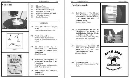AFTE Journal Vol 35 No 4 (2003)