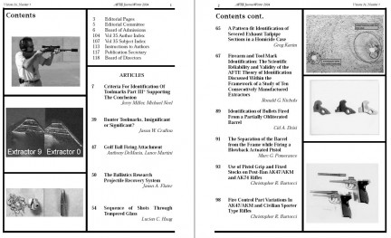 AFTE Journal Vol 36 No 1 (2004)