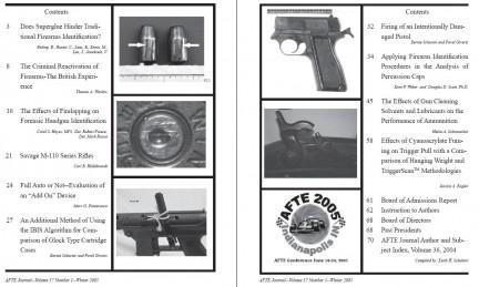 AFTE Journal Vol 37 No 1 (2005)
