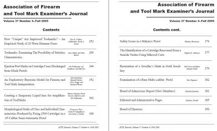 AFTE Journal Vol 37 No 4 (2005)