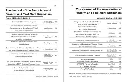 AFTE Journal Vol 42 No 4 (2010)