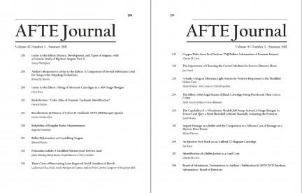 AFTE Journal Vol 43 No 3 (2011)