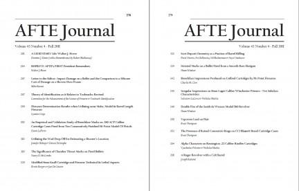 AFTE Journal Vol 43 No 4 (2011)