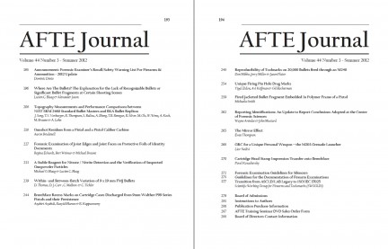 AFTE Journal Vol 44 No 3 (2012)