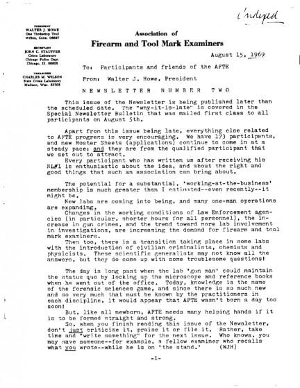 AFTE Newsletter Number 02 (1969)