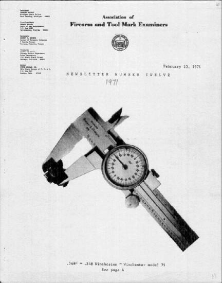 AFTE Newsletter Number 12 (1971)