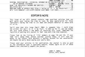 AFTE Journal Vol 18 No 2 (1986)