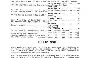 AFTE Journal Vol 18 No 3 (1986)