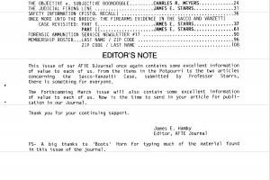 AFTE Journal Vol 19 No 1 (1987)