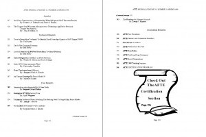 AFTE Journal Vol 31 No 2 (1999)