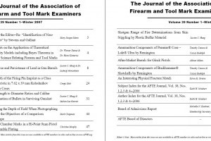 AFTE Journal Vol 39 No 1 (2007)