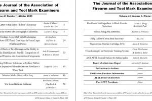 AFTE Journal Vol 41 No 1 (2009)