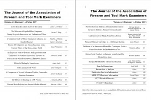 AFTE Journal Vol 43 No 1 (2011)