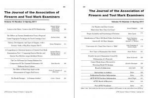 AFTE Journal Vol 43 No 2 (2011)