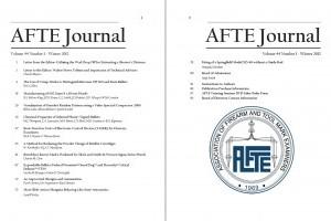 AFTE Journal Vol 44 No 1 (2012)