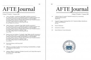 AFTE Journal Vol 47 No 3 (2015)